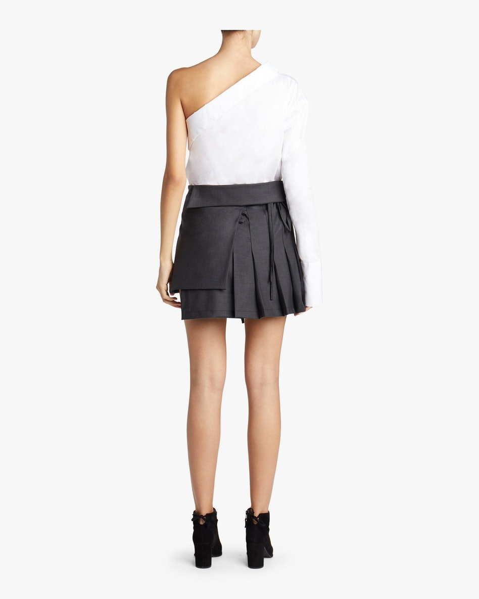 Pleated Wrap Mini Skirt: additional image