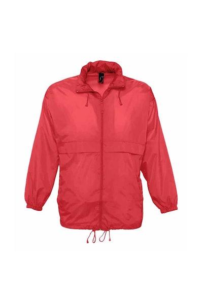SOLS Unisex Surf Windbreaker Lightweight Jacket (Red): image 1