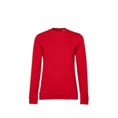 B&C Womens/Ladies Set-in Sweatshirt (Red): image 1
