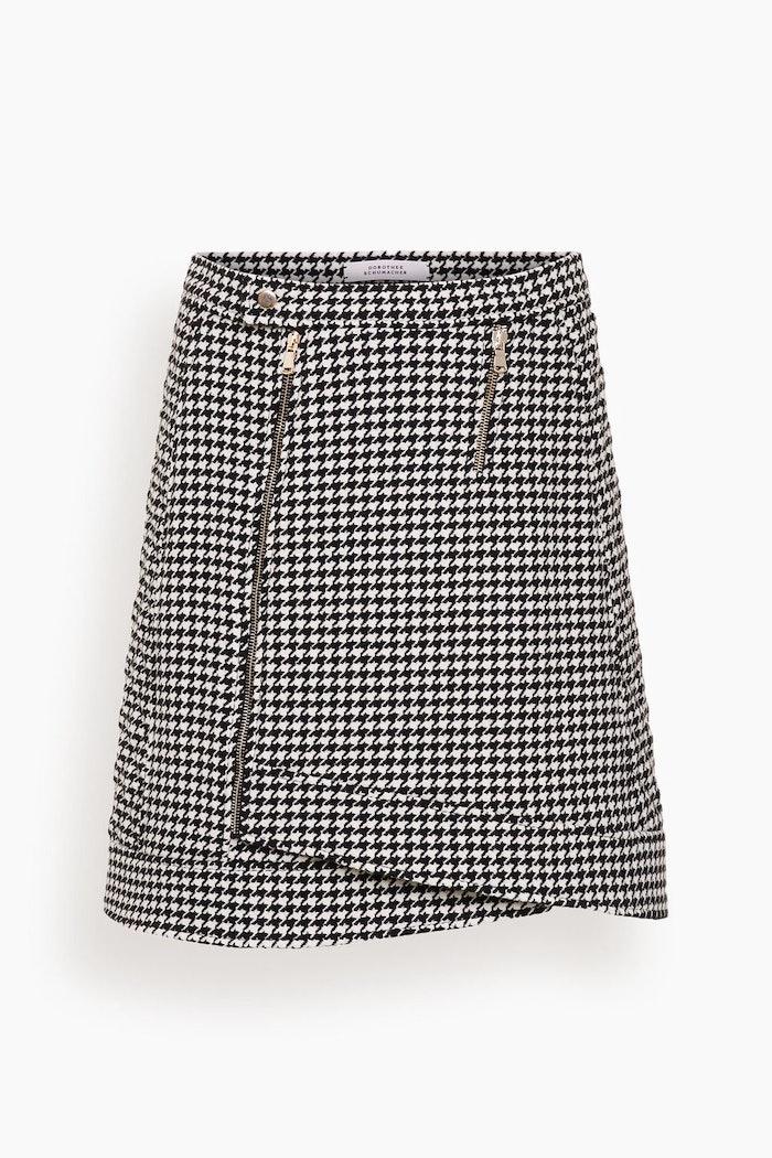 Graphic Softness Skirt in Black and White Pepita: image 1