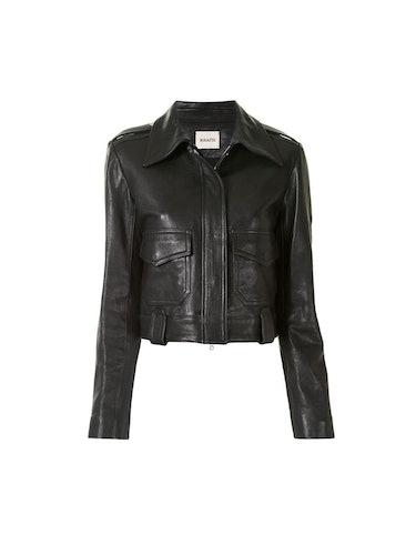 Cordelia Cropped Moto Leather Jacket: additional image