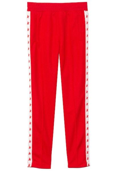 Doro Leg Joggers in Tango Red/White: image 1