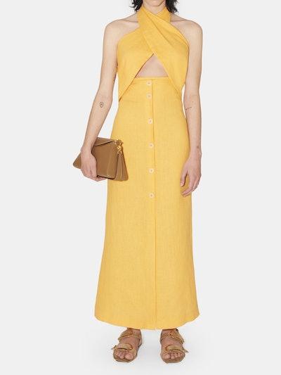 Soffio Halter Neck Cut Out Maxi Dress: image 1