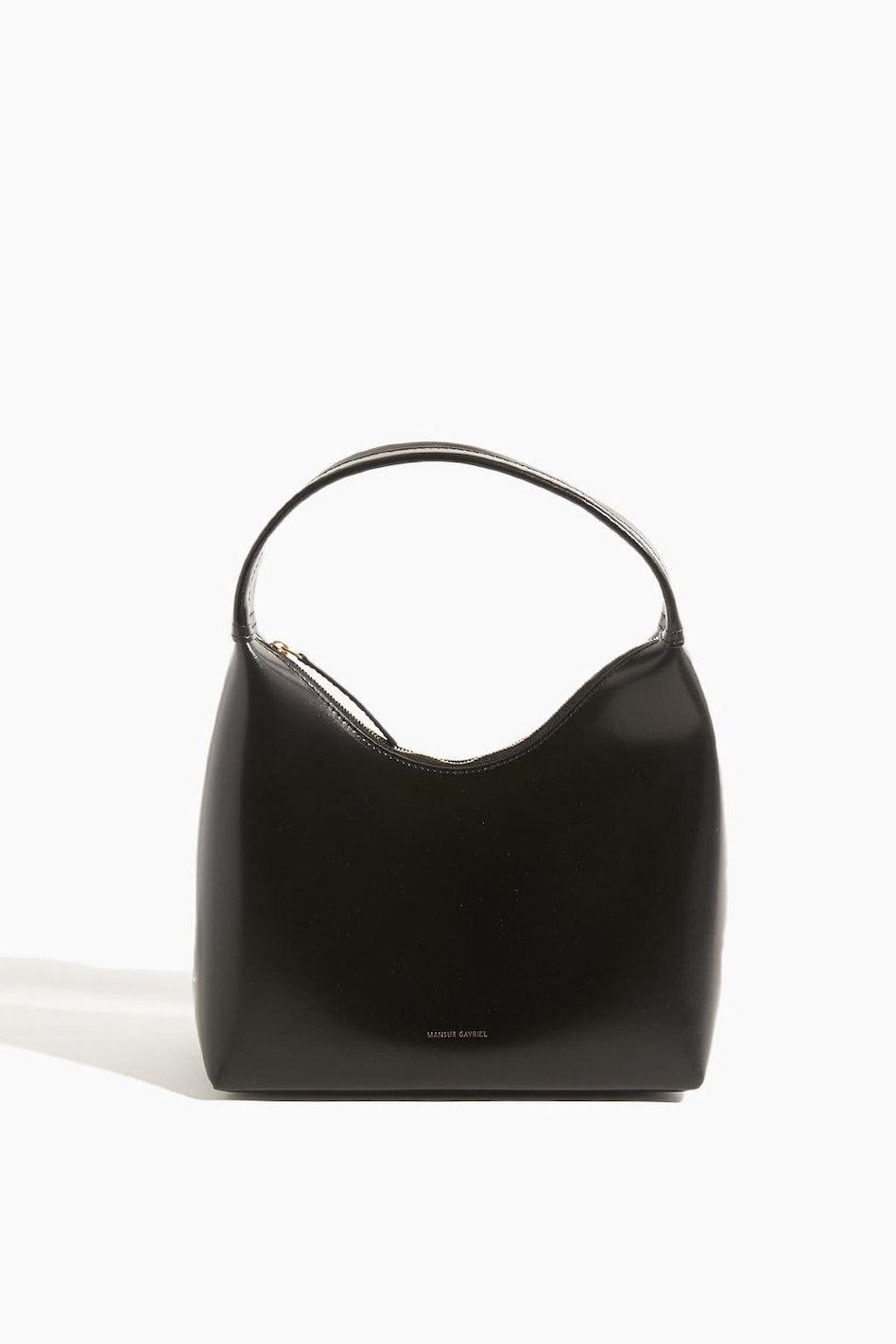 Zip Hobo Bag in Black/Flamma: image 1