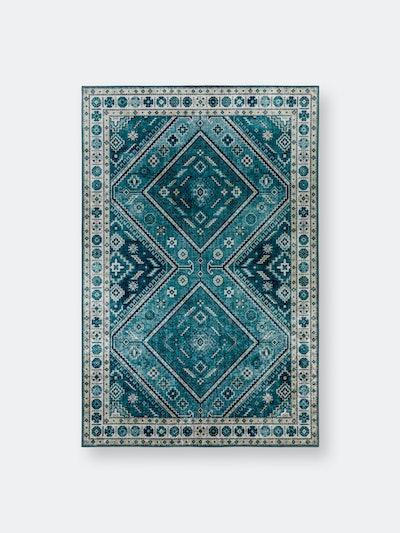 Addison Avignon Traditional Diamond Velvet Non-skid Rug: image 1