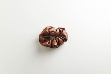Luxe Vegan Leather Scrunchie: image 1