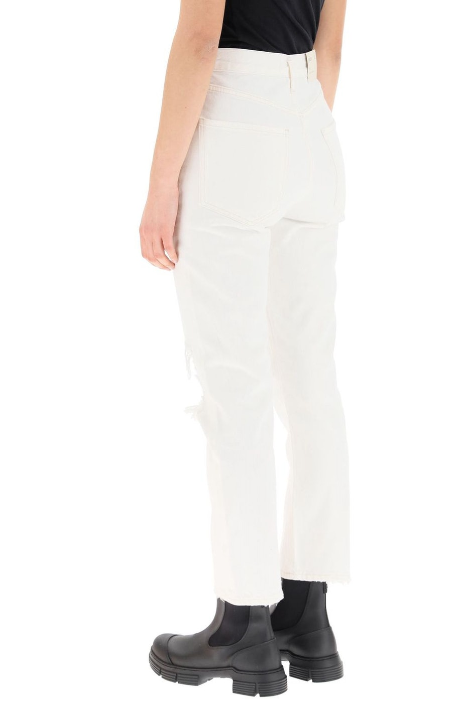 Agolde Riley High Rise Straight Crop Jeans: image 1