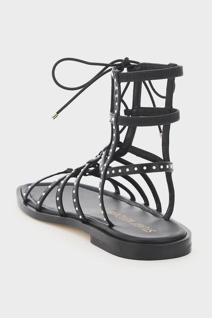 Stuart Weitzman Kora Beaded Lace-up Gladiator Sandals: image 1