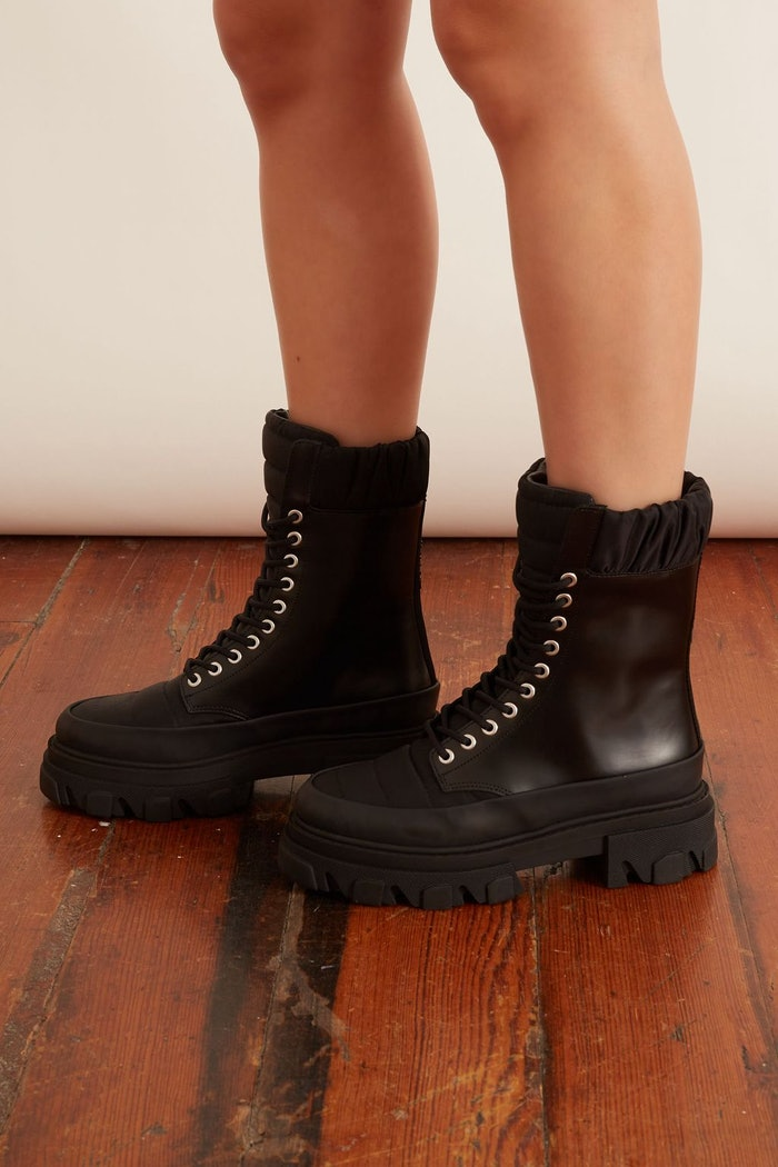Brush Off and Nylon Combat Boot in Black: image 1