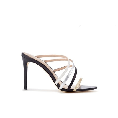 Hailey Multi-Strap Leather Mules: image 1