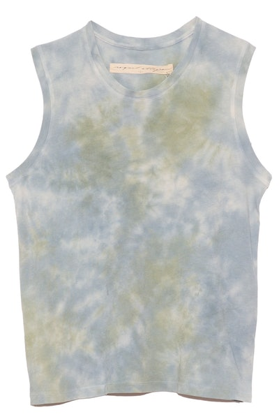Fitted Muscle Tee in Sky Camo