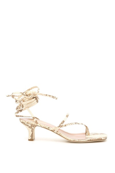 Paris Texas Python Print Sandals