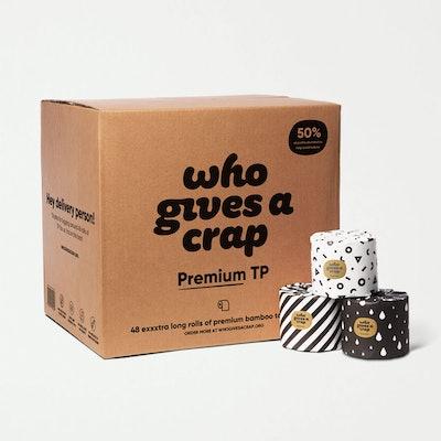 Premium 3-warstwowy - 100% bambusowy papier toaletowy - Rolki o podwójnej długości