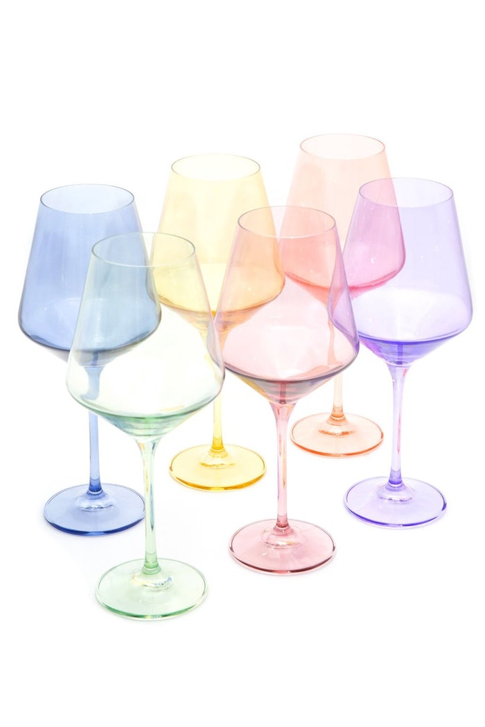 Colored Wine Stemware in Mixed - Set of 6: image 1