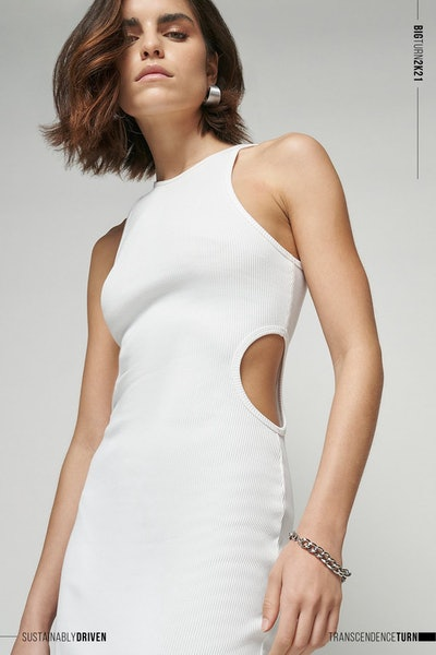 Limited Edition Cut Out Ribbed Midi Dress