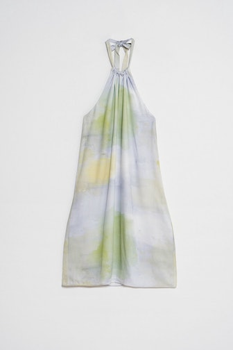 Tie Halterneck Mini Dress