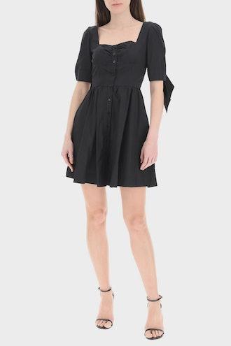 Pinko Mini Shirt Dress With Knots: image 1