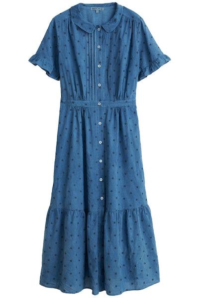 Daisy Field Dress in Indigo