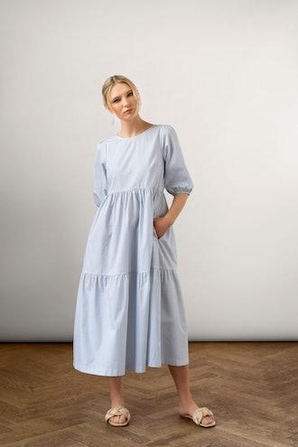 Bon Cotton Dress Blue: image 1