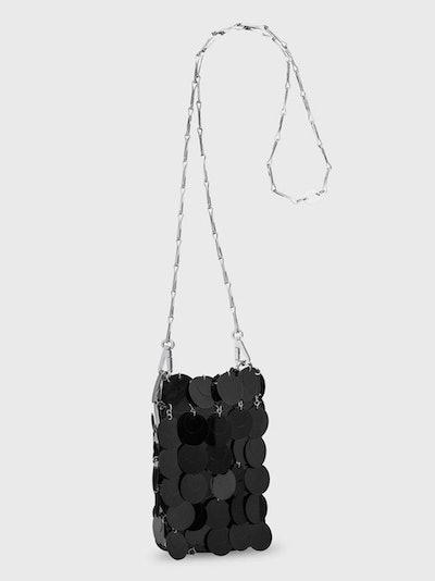 Mini Sparkle Bag in Black Paillettes