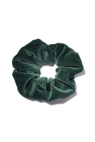 Velvet Scrunchie in Emerald: image 1