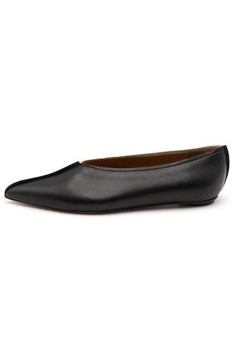 Bi-Color Dancer Shoe in Black/Alabaster: image 1