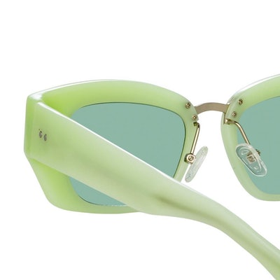 Dries Van Noten 202 Round Sunglasses in Green