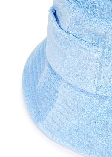 Wave blue terrycloth bucket hat: image 1