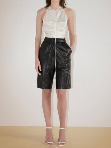 Ruched Silk Camisole Top: image 1
