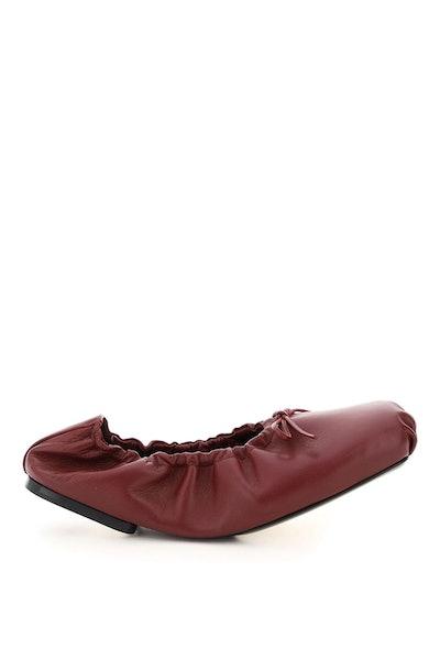 Khaite Ashland Leather Ballet Flats