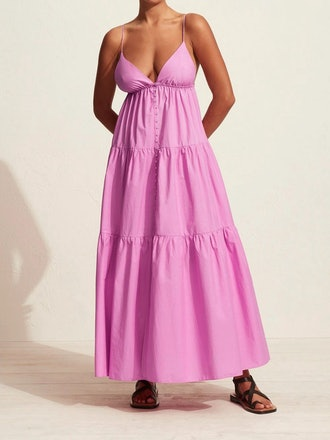 Tiered Front Maxi Dress: image 1