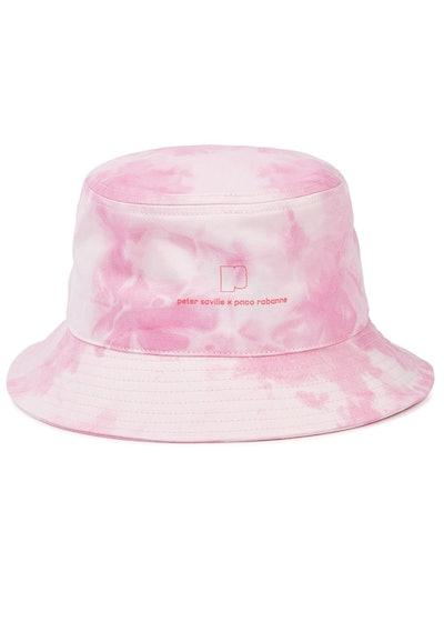 X Peter Saville tie-dyed twill bucket hat
