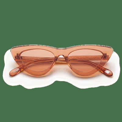 #006 Clear Sunglasses in Peach