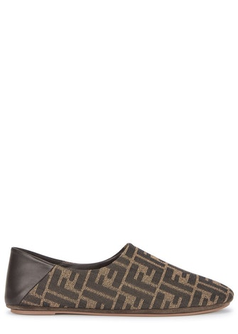FF-jacquard canvas slippers: image 1