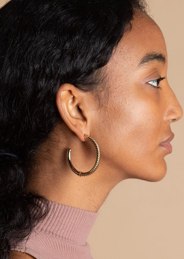 Uzi Hoop Earrings: image 1
