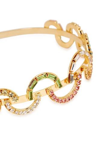 Brio crystal-embellished gold-tone headband