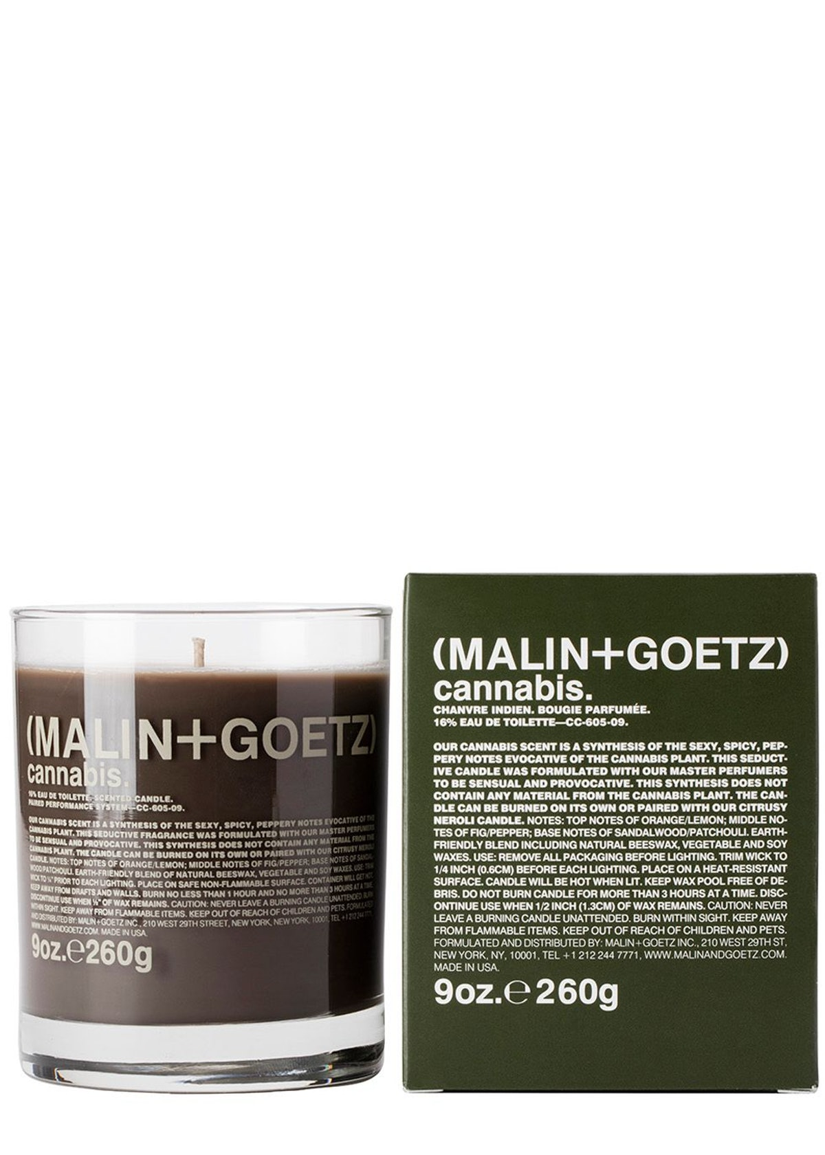 Cannabis Candle 260g: image 1