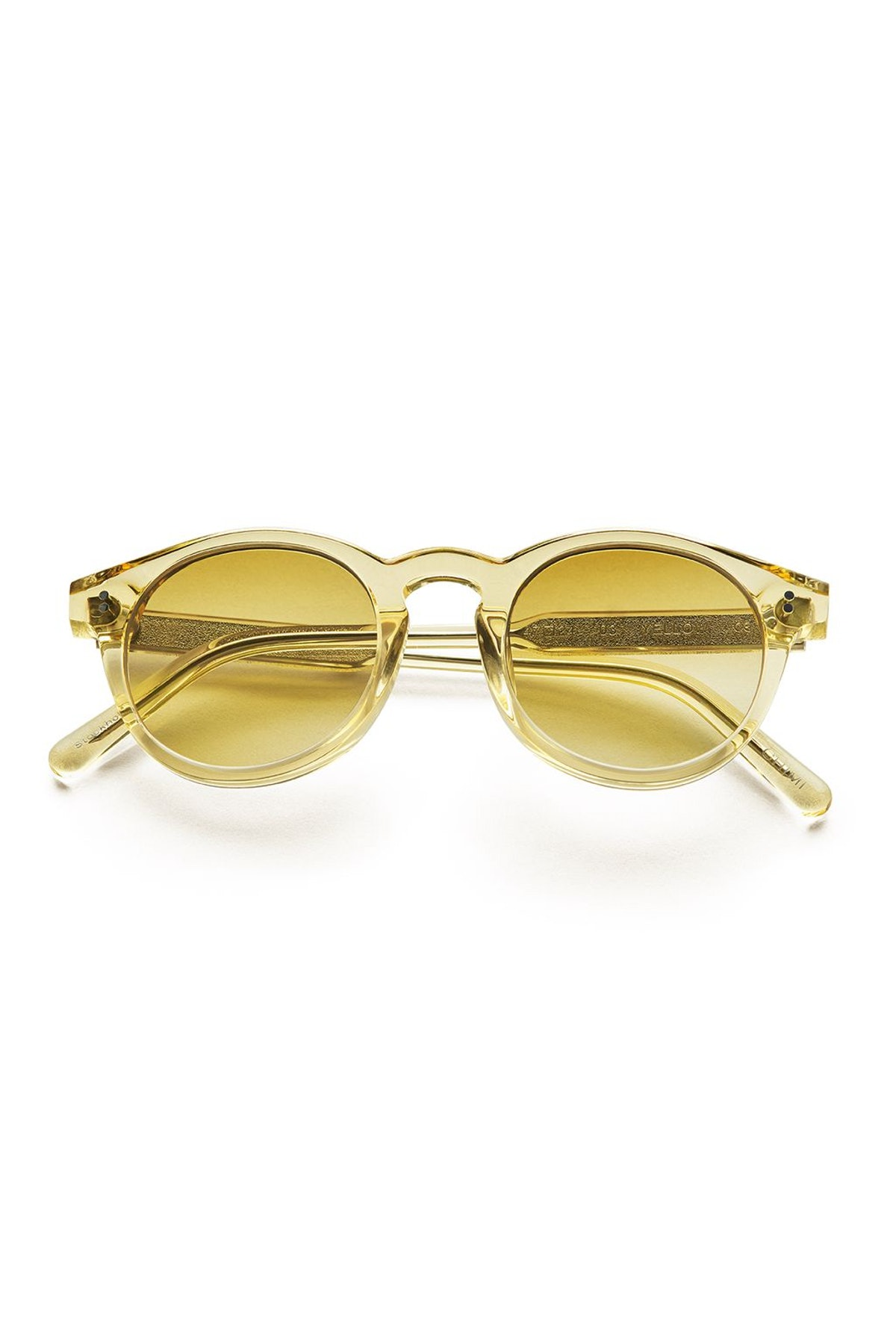 #003 Clear Sunglasses in Yellow: image 1