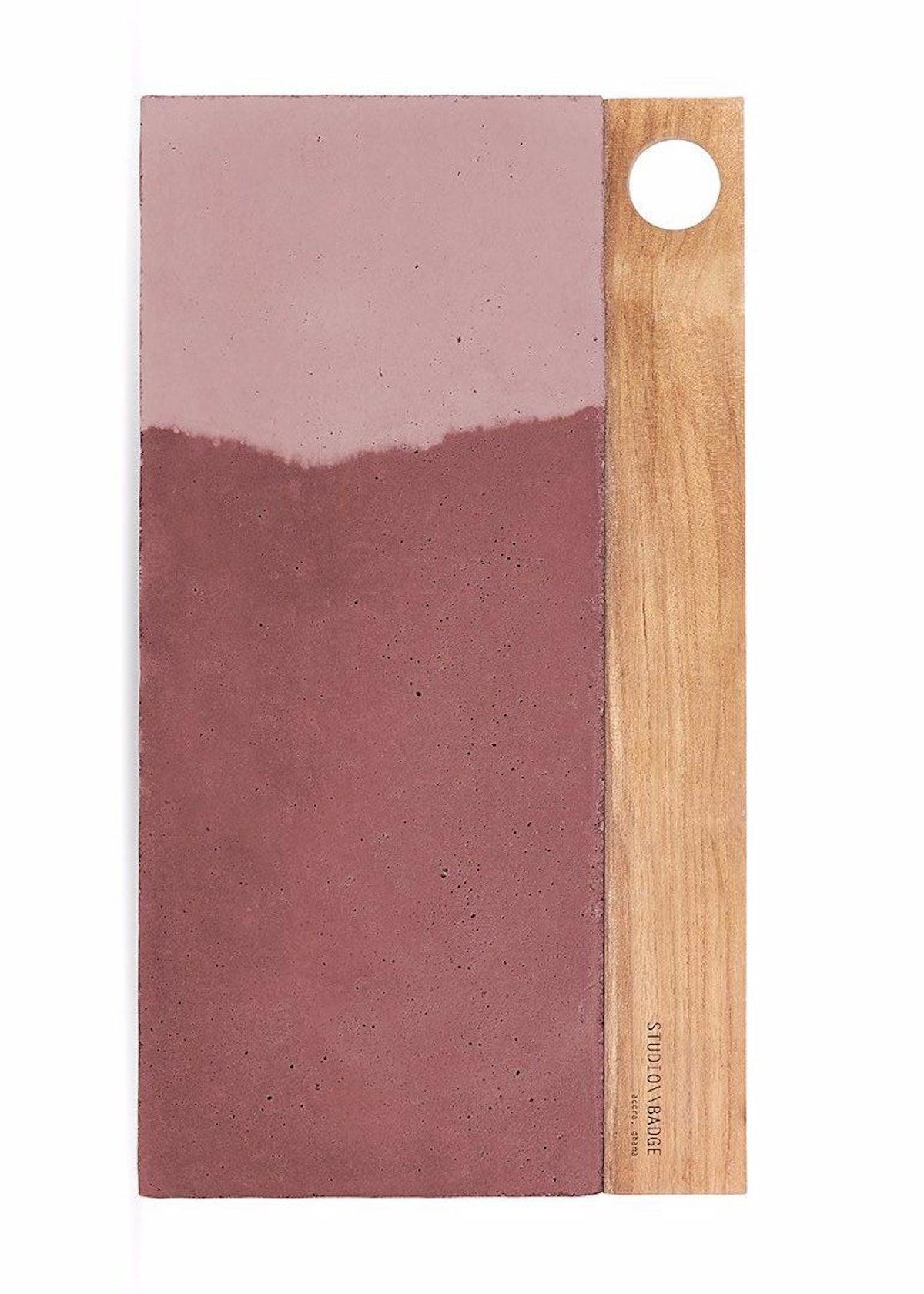 Aitch Concrete Platter in Dusty Rose Tones: image 1