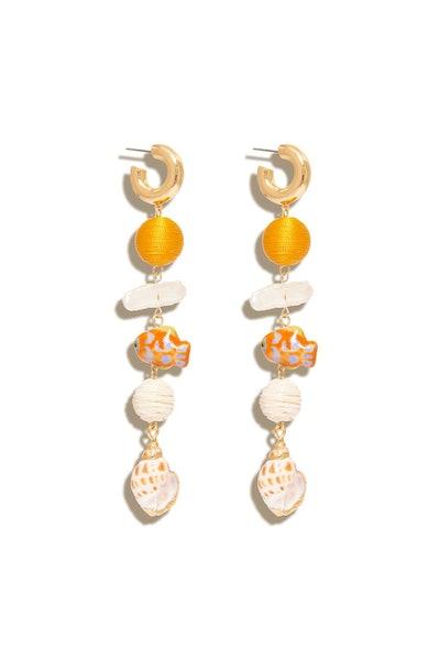 Lux Cora Hoop Dangle Earring in Orange Multi