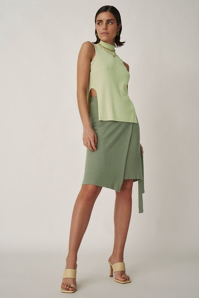 Cut Out Side Slit Sweater: image 1