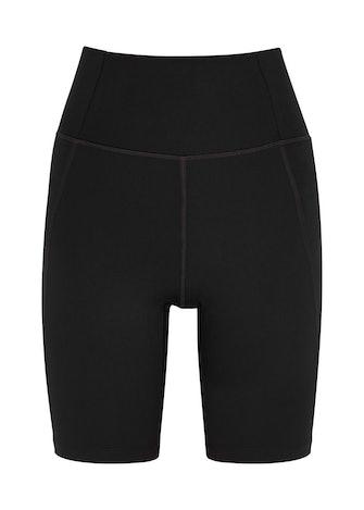 High-Rise Bike black shorts: image 1