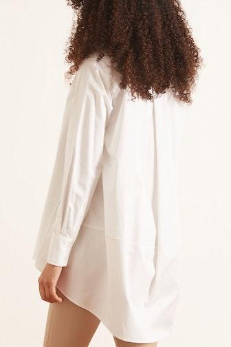 Button Down Tunic in White