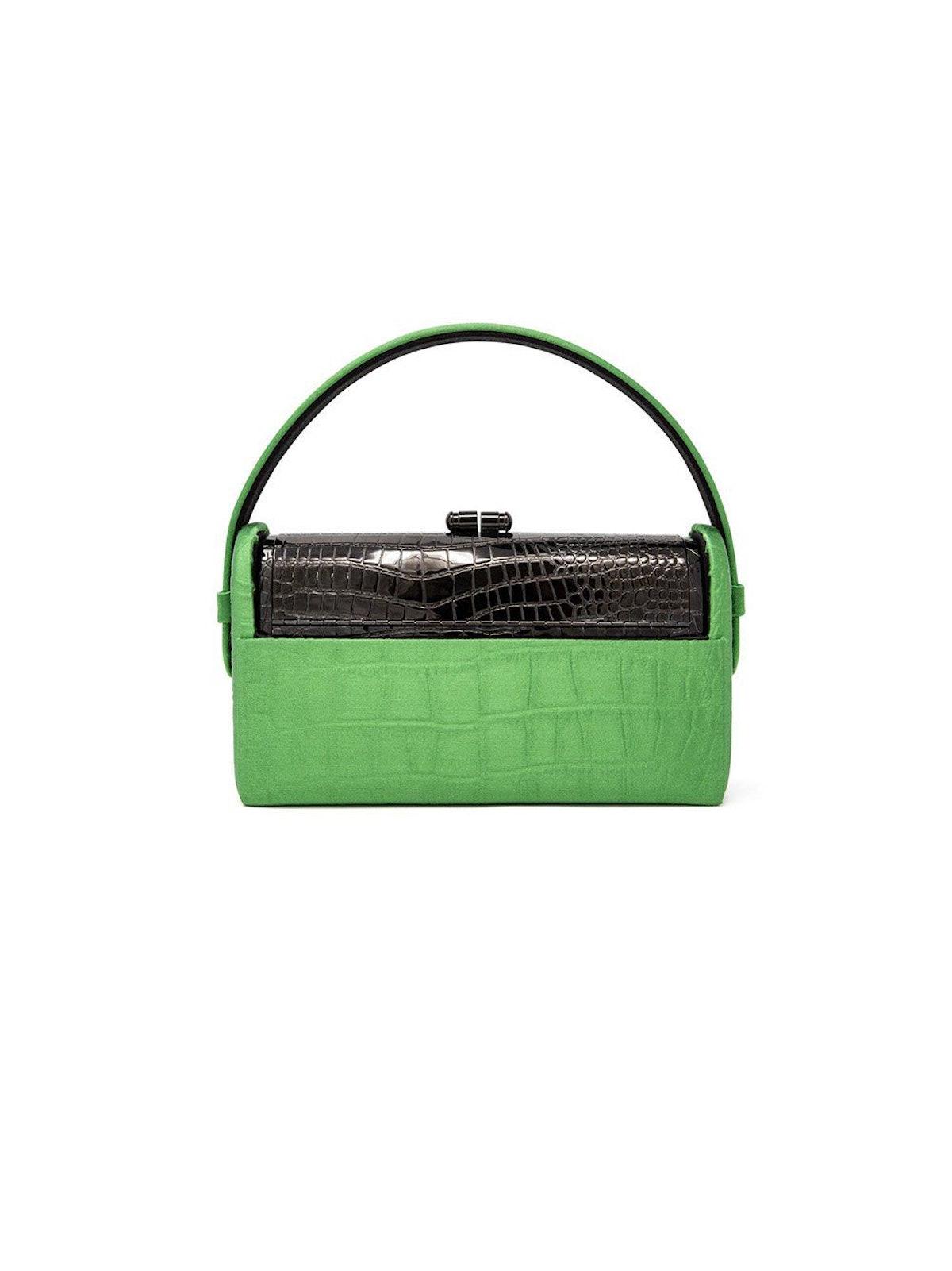 Régine Gunmetal Top Handle Bag: image 1