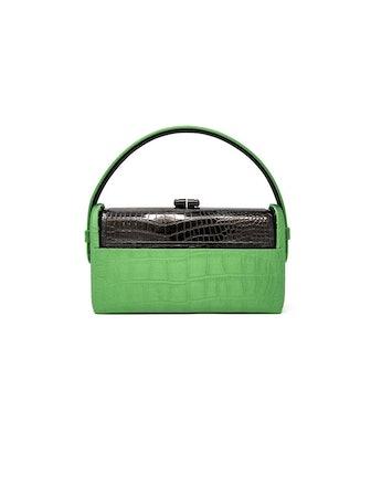 Régine Gunmetal Top Handle Bag