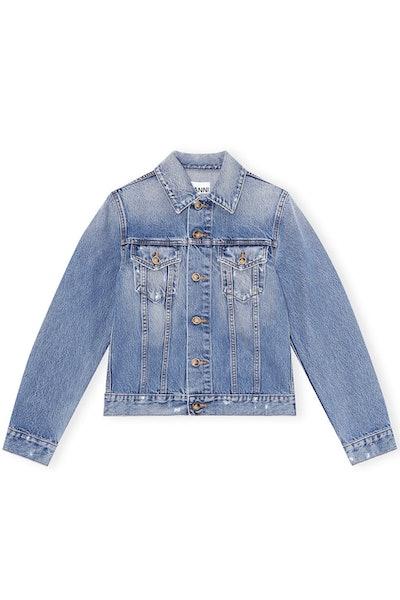Overwashed Denim Jacket in Denim