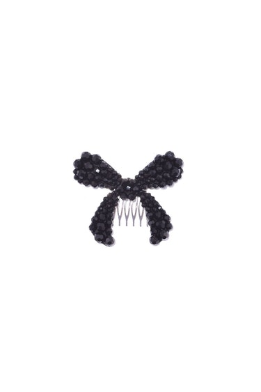 Large Bow Hair Clip in Jet: image 1