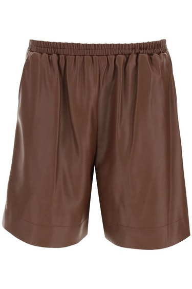 Staud Clark Shorts In Vegan Leather: image 1