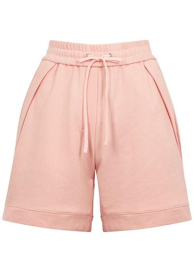 Pink cotton-jersey shorts: image 1