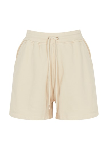 Ivory cotton shorts: image 1
